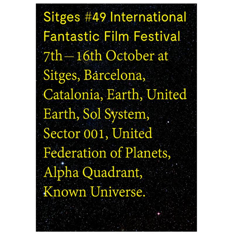 Sitges Film Festival 2016 Poster