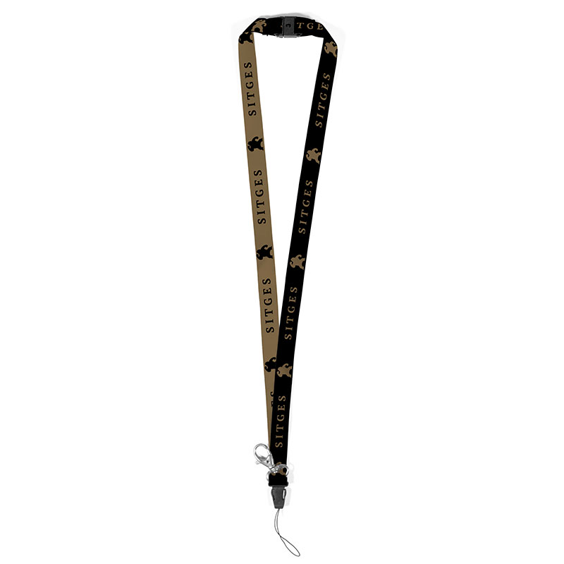 lanyard Sitges Film Festival black and gold