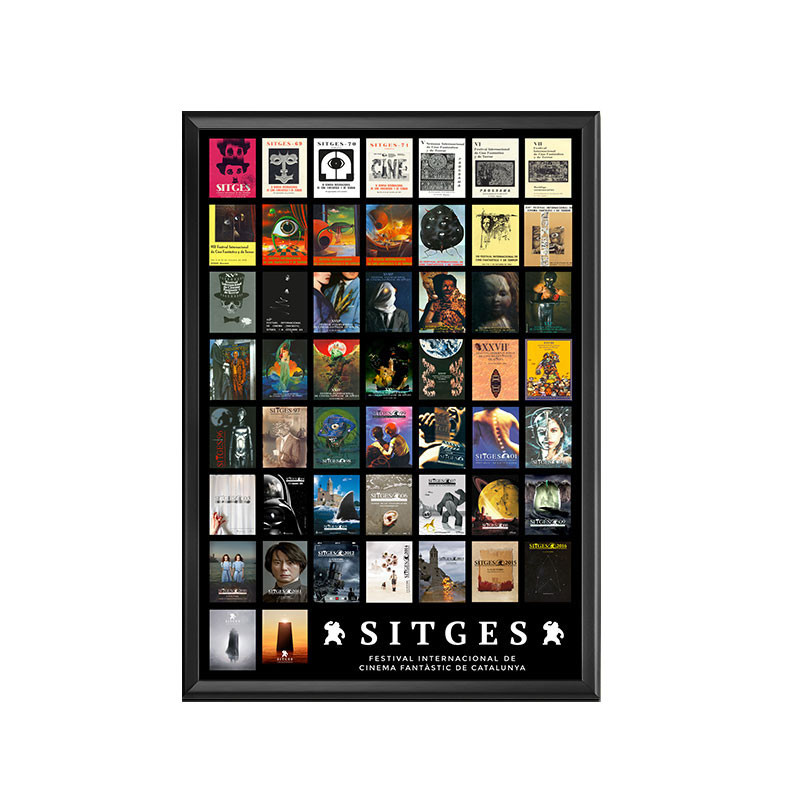 sitges 51 years poster with the images from the first edition of the Sitges Film Festival to the fifty first edition