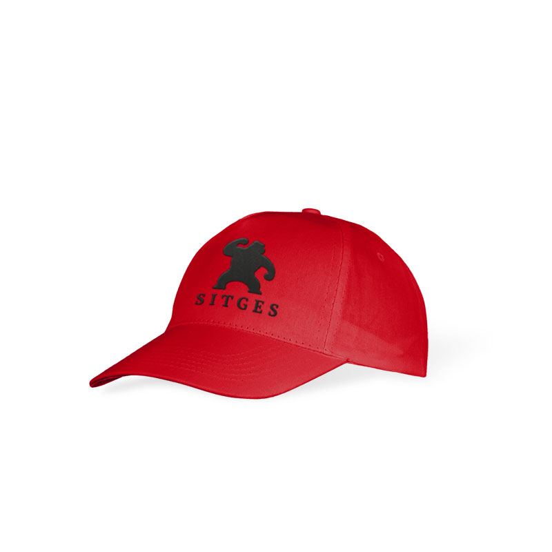 Sitges Kid's red cap embroidered with the logotype of the Sitges Film Festival