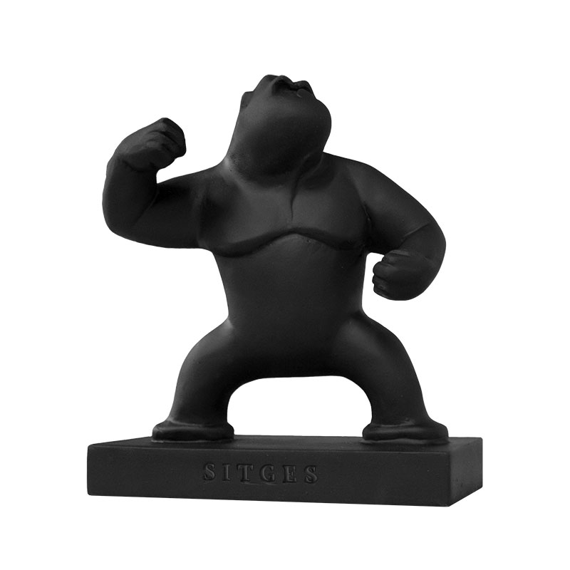 Sitges Gorilla Sculpture. Vitrified Plaster with the form of the Gorilla, the main character of the Sitges Film Festival