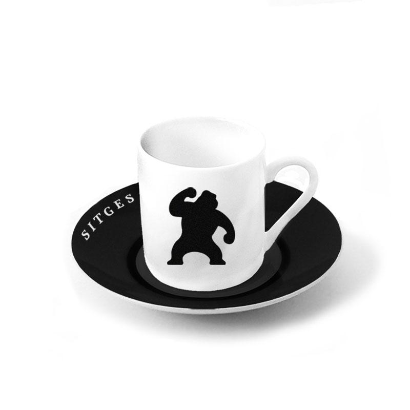 Sitges ceramic coffee set. Sitges Film Festival service dinner