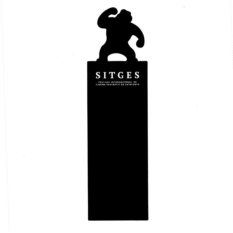 sitges film festival bookmark with the gorilla silhouette
