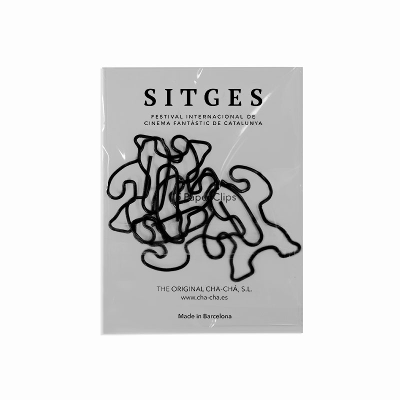 set of 5 paper clips with the shape of the iconic Gorilla of the Sitges Film Festival