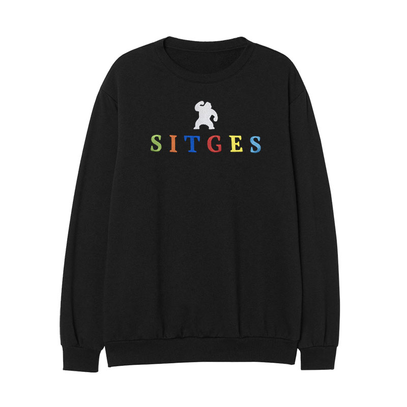 Sitges Colour Embroidered Hoodie  Embroidered with the Sitges letters in different colours