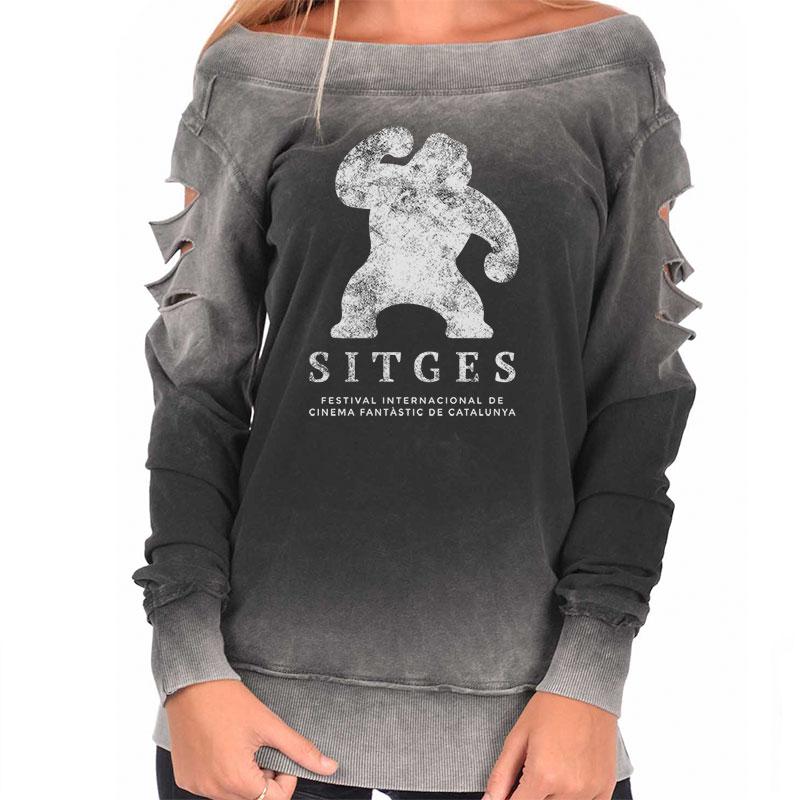 Vintage Sitges Sweatshirt printed with sitges film festival logotype