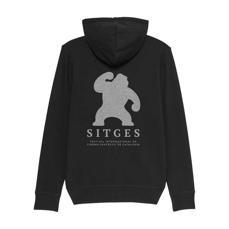 Sitges Black Zipper Hoodie with Sitges Film Festival logo in the back