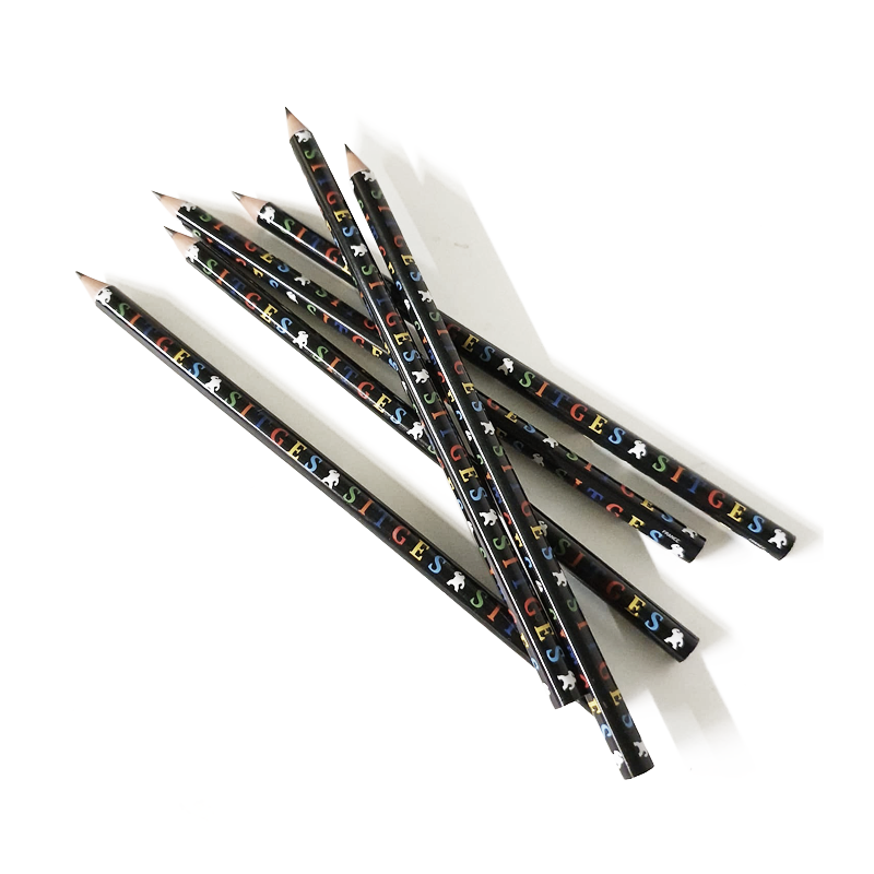 sitges film festival wooden pencil printed with the gorillas in funny different colours