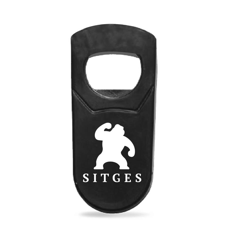 Abrebotellas con logotipo del Festival de cine de Sitges