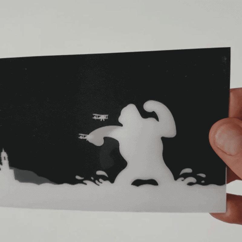 Sitges 3D postcard wit movement effect