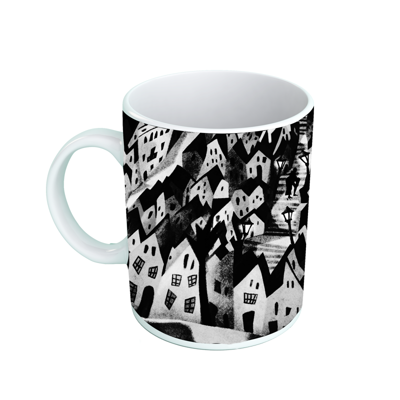 Sitges 2020 ceramic mug printed with the 2019s poster image of the Sitges Film Festival