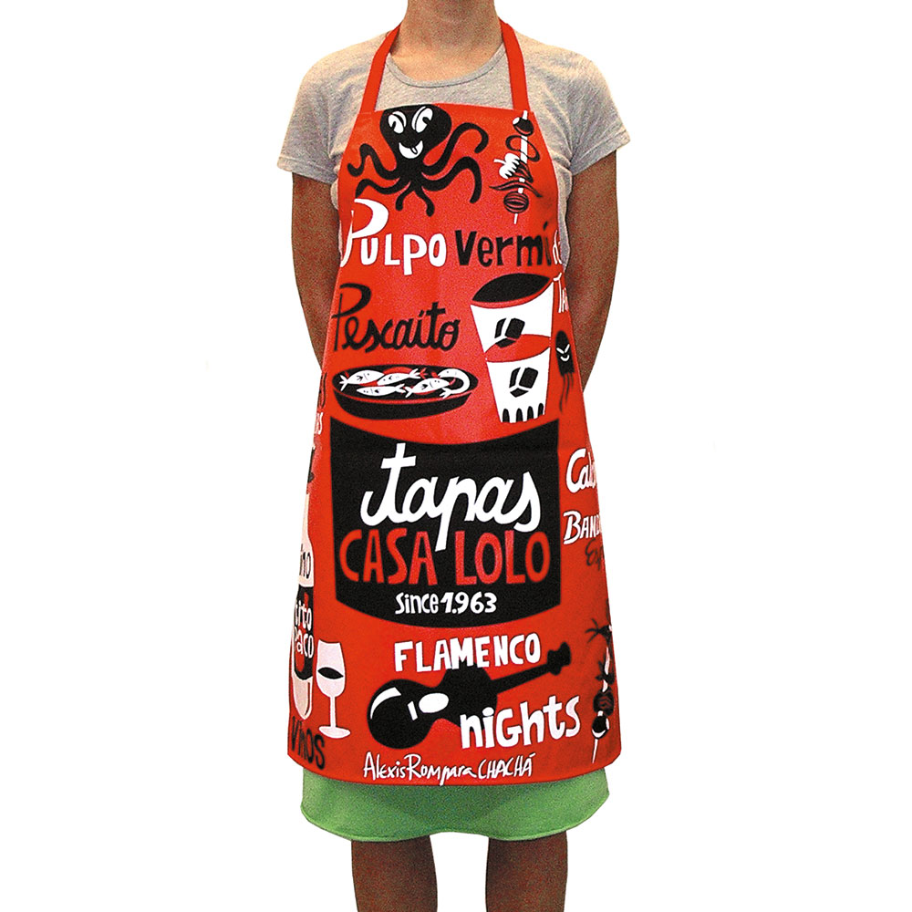 casa lolo tapas apron designed by Alexis Rom
