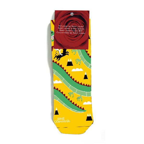 mitjons sant jordi color groc de Jorge Ochagavía
