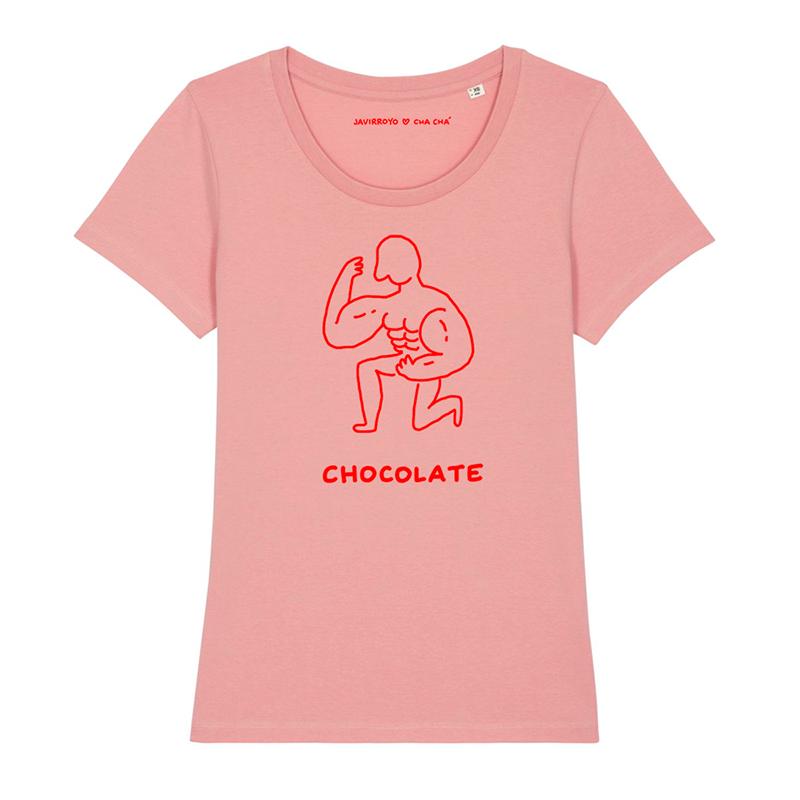 chocolate woman t-shirt by javirroyo