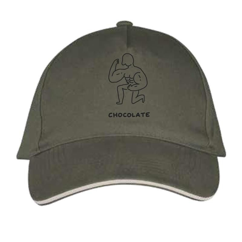 chocolate cap designed by javirroyo in khaki colour