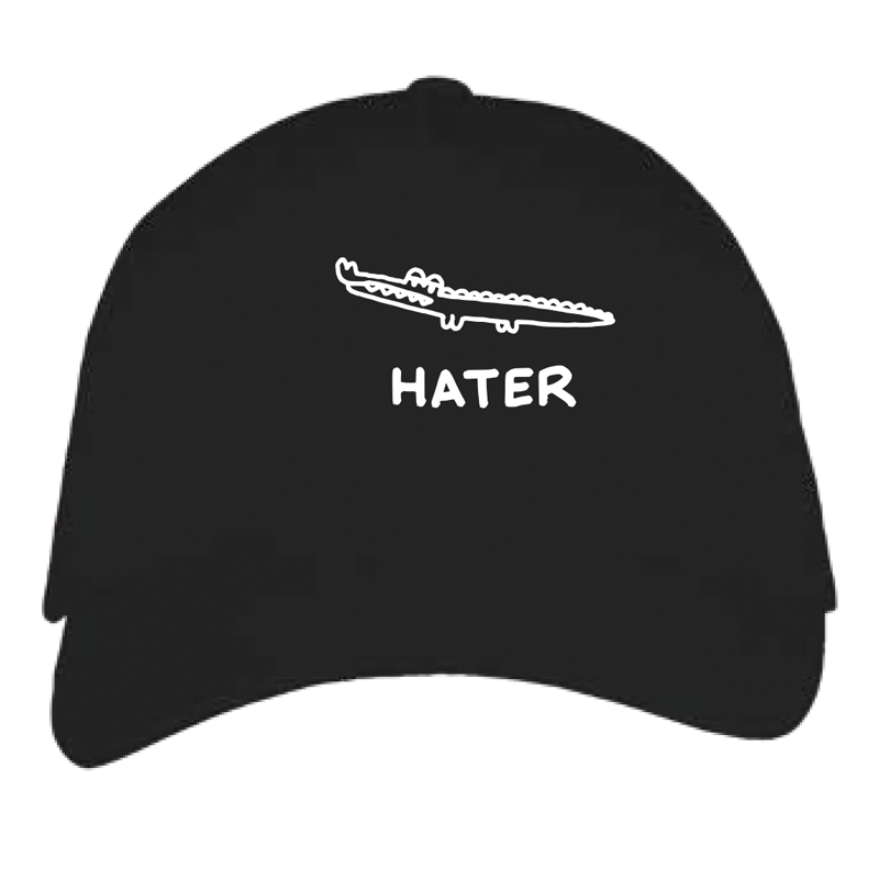 hater cap by javirroyo in black colour