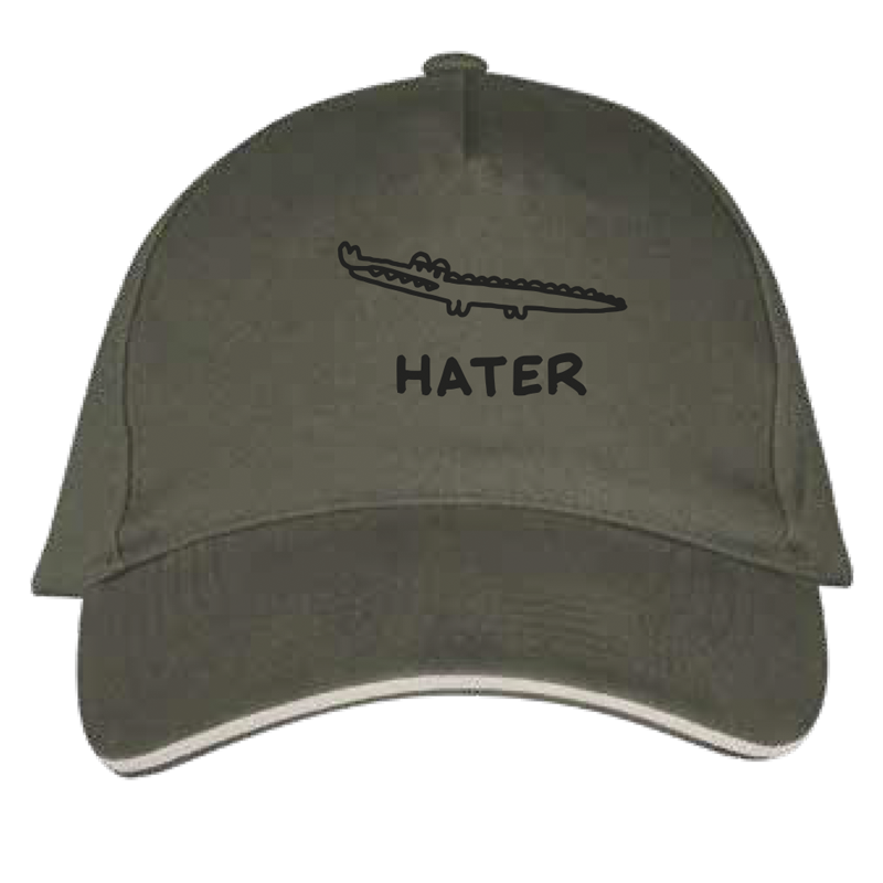 hater cap by javirroyo in khaki colour