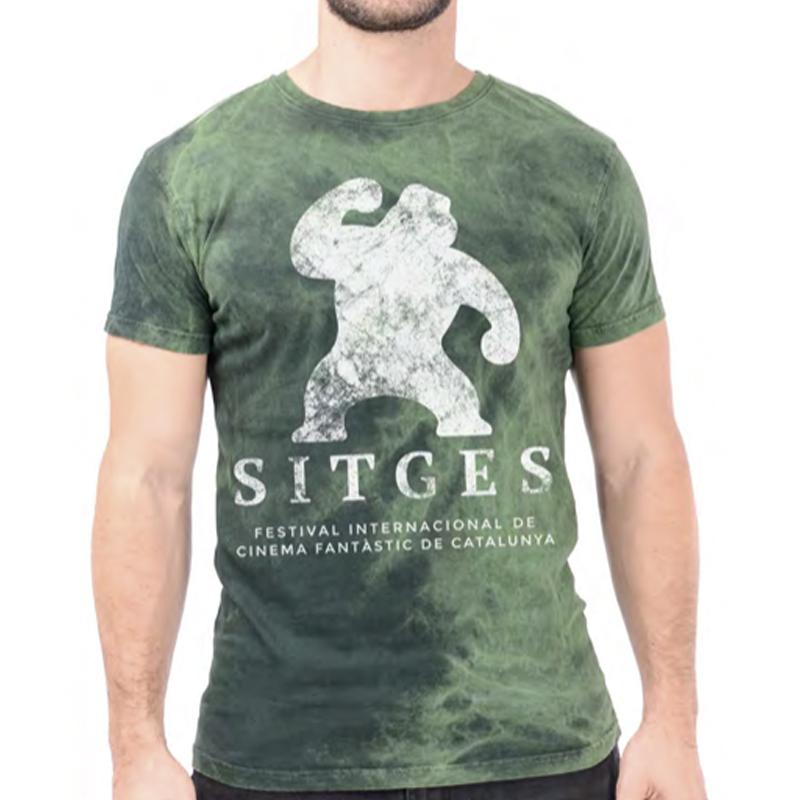 camiseta unisex festival de sitges vintage color verde