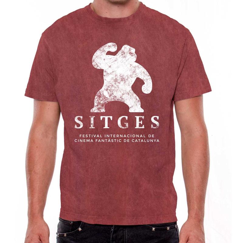 camiseta unisex festival de sitges vintage color rojo